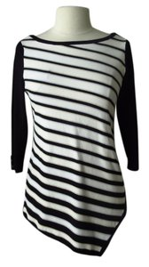 White House | Black Market Tunic Striped Asymmetrical Sweater