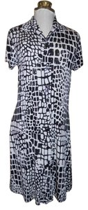 Chico's short dress black & white Wrinkle Free on Tradesy