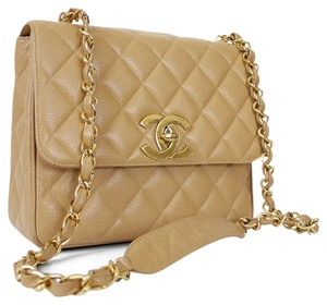 Chanel Vintage Classic 2.55 Tan Cross Body Bag
