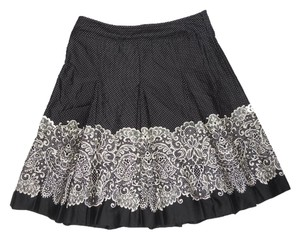 Talbots Cotton Skirt black & white