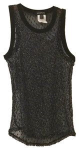 bebe Top Black and Silver