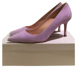 Manolo Blahnik Lavender Bb Suede Lavender purple Pumps