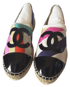 Chanel 2016 Cruise 16c Canvas Multi-Color Flats