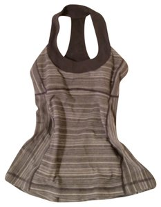 Lululemon Racerback Size 4 Top Gray and White