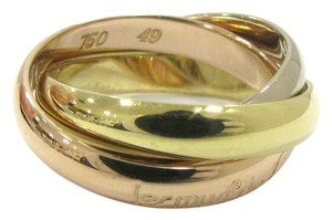 Cartier Cartier 18k Tri Color Gold Trinity Rolling Ring -size US 5 EU 49