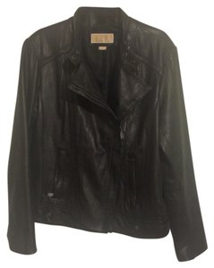 Michael Kors Blk Leather Jacket