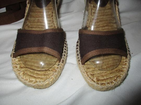 baf0300aafd Antonio Melani Ankle Wrap Espadrille Brown Sandals