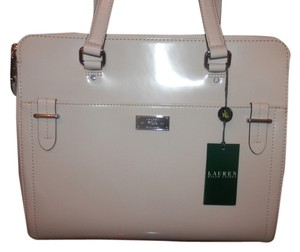 Ralph Lauren Brand New Shelf Pull Tote in ivory vanilla