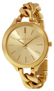 Michael Kors Gold Chain Link Twist Ladies Designer Fashion Watch