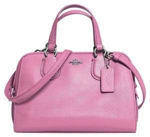 Coach Genuine Leather Nolita New With Tags Satchel in Marshmallow / pink