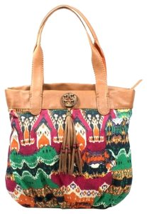 Lucky Brand Boho Tote in Orange Ikat