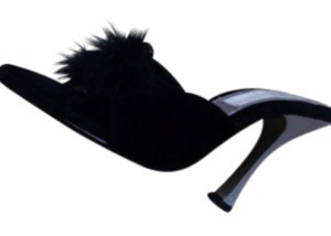 Unknown Feathers Sexy Adult Size7 Maribou black Pumps