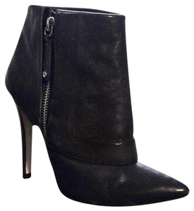 Alice + Olivia Leather Ankle Black Boots
