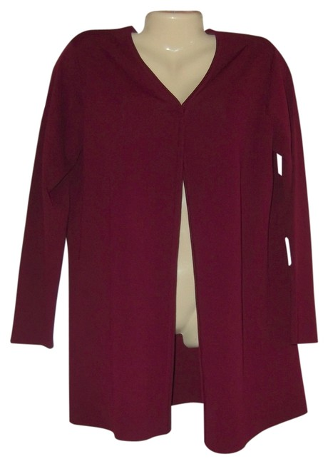 Chico's Burgundy Fly Away Open Front New With Tags Rayon Cardigan