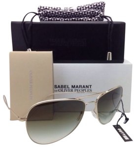 Oliver Peoples ISABEL MARANT Par OLIVER PEOPLES Sunglasses MATT OV 1156-S 5035/8E Gold Frame w/ Olive Gradient Lenses