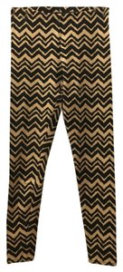 Stretchy Chevron Black & Tan Leggings
