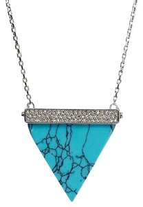 Michael Kors Michael Kors Pave Triangle Turquoise Pendant Necklace