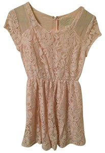 Coincidence & Chance short dress Light Pink Lace on Tradesy