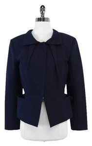 Roland Mouret Navy Cotton Jacket