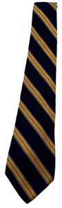 Brooks Brothers Brooks Brothers Makers Vintage 100% Silk Tie Navy Gold and Light Blue