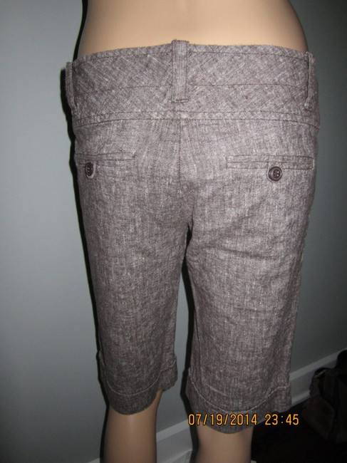 Charlotte Russe Versatile Unique For Night Out Or Office Capris Brown with White Flecks