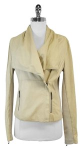Vince Soft Tan Leather Asymmetric Asymmetric Jacket