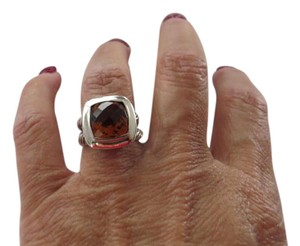 David Yurman Orange Citrine Albion Sterling Silver Ring,