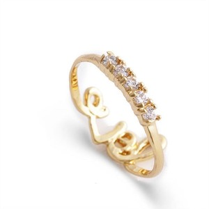 Bogo Free Double Sided Gold Filled Love Ring Free Shipping