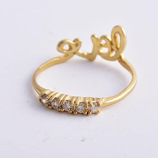 Gold Bogo Free Double Sided Filled Love Free Shipping Engagement Ring