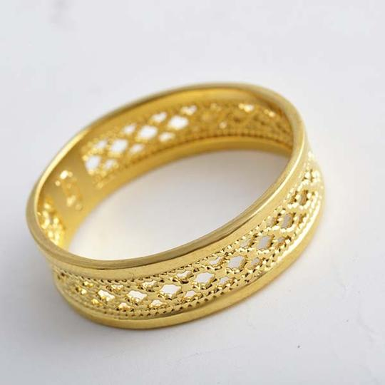 Bogo Free Carved Gold Band Ring Free Shipping