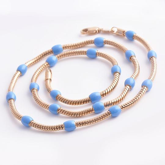 Preload https://item2.tradesy.com/images/rose-gold-bogo-free-turquoise-bead-free-shipping-necklace-1086556-0-0.jpg?width=440&height=440