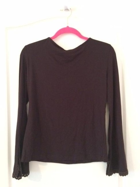 Nafnaf European Pullover Cotton Knit Top Brown