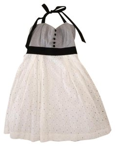 Trixxi short dress Black and White Halter Junior on Tradesy