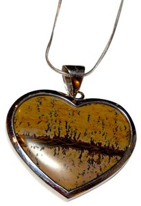 Picture Jasper Sterling silver Pendant Necklace N070