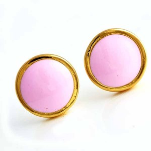 Summer Pink Enamel Earrings Free Shipping