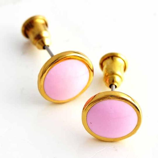 Pink Bogo Free Gold Stud Free Shipping Earrings Image 1