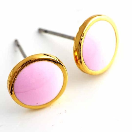 Pink Bogo Free Gold Stud Free Shipping Earrings Image 2