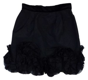 Dolce&Gabbana Black With Ruffled Hem Ruffled Hem Skirt