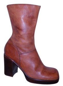 Steve Madden Leather Platform British tan Boots
