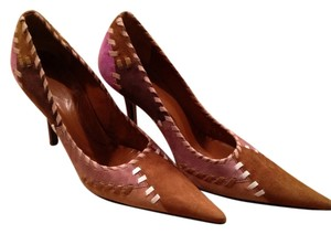 Made in Brazil Sue Suede Boutique Chic Handmade Patchwork Color-blocking color block Pumps