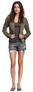 Love Stitch Denim Shorts-Dark Rinse