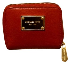 Michael Kors MICHAEL KORS Zip Around Bifold Wallet Coin Purse NWT Vanilla PVC
