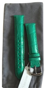 Michele NWT MICHELE JADE GREEN ALLIGATOR STRAPS 18mm MS18AA0101337
