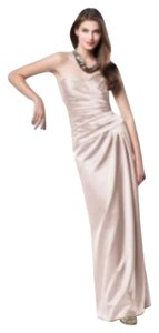 Dessy Strapless Full Length Satin Dress