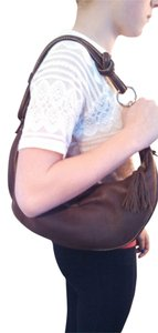 Fossil Leather Classic Shoulder Hobo Bag