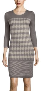 Spense short dress Ash Gray/Stone Taupe Stone Ivory 3/4 Sweater on Tradesy