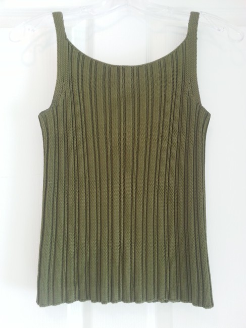 Ann Taylor Silk Top Forest Green Image 1
