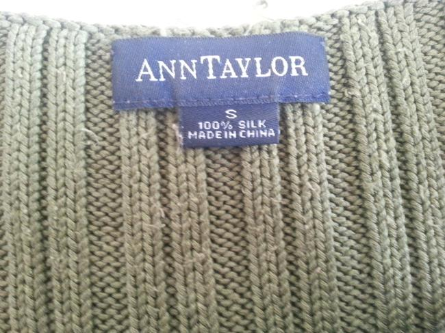 Ann Taylor Silk Top Forest Green Image 2