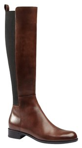 Gucci Leather Knee Hight Round Toe brown Boots