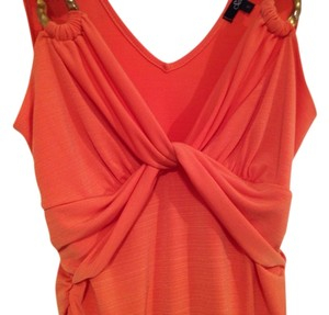 Self Esteem Date Gold Chain Summer Spring Trendy Sexy Top Orange